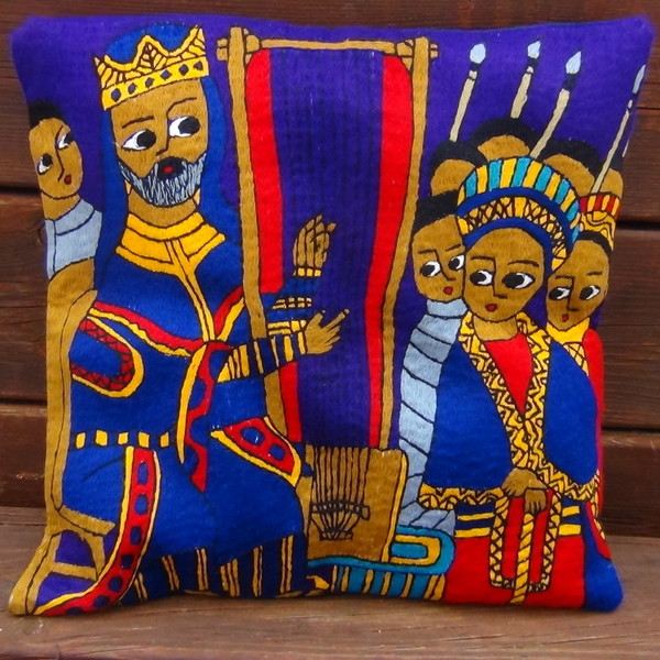 Cushion Cover - Solomon and Sheba
